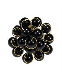 Aeravida | Unique Handmade Front Cluster Black Stone Organic Ring | Lyst