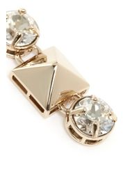 Valentino - Metallic Stud And Strass Earrings - Lyst