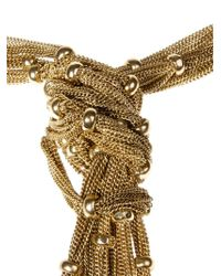 Rosantica - Metallic Long Bead And Chain Necklace - Lyst