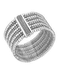 John Hardy - Metallic Classic Chain Silver Multi-Row Bracelet - Lyst