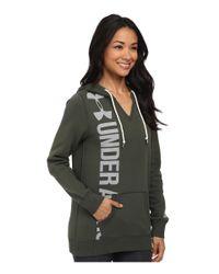 Under Armour | Green Ua Favorite Fleece Hoodie | Lyst