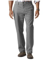 Dockers Natural D2 Straight Fit Field Khaki Dobby Flat Front Pants for men