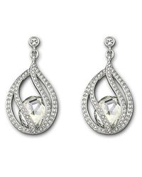 Swarovski | Metallic Megan Crystal Drop Earrings | Lyst