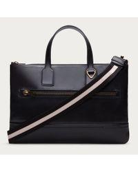 Bally Tas Men's Leather Business Bag In Black for men