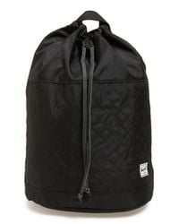 Herschel Supply Co. | Black 'hanson' Quilted Backpack | Lyst