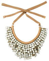 Ermanno Scervino - Black Tiered Beads Necklace - Lyst