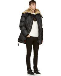 DSquared² - Black Fur Lined Parka for Men - Lyst