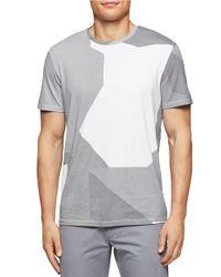 Calvin Klein | White Tonal Print Tee for Men | Lyst
