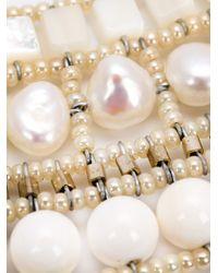 Ziio - White Nil Nacre Multi-Stone Pearl Necklace - Lyst