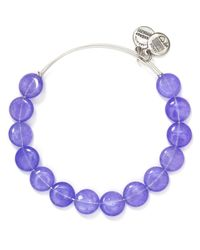 ALEX AND ANI - Purple Sugar Rush Expandable Wire Bangle - Lyst
