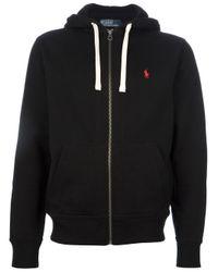 Polo Ralph Lauren Black Fleece Lined Hoodie for men