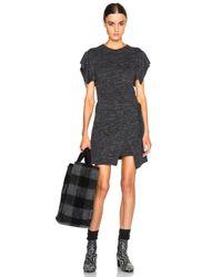 Étoile Isabel Marant Gray Wad Foldover Skirt Jersey Dress