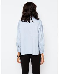 Monki Blue Oversized Shirt