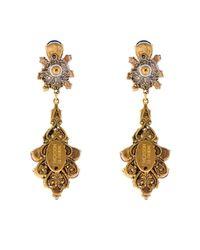Erickson Beamon - Metallic Splash Gold-Plated Crystal Earrings - Lyst