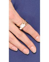 Eddie Borgo - Metallic Freshwater Cultured Pearl Orbit Ring - Gold - Lyst