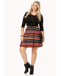 Forever 21 | Black Eclectic Pleated Mini Skirt | Lyst