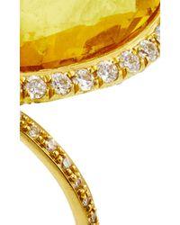 Nina Runsdorf 18K Yellow Gold Yellow Beryl Flip Ring
