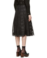 Marc Jacobs - Black Lace Pleated Skirt - Lyst