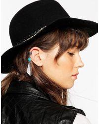 ASOS Blue Single Festival Shard Ear Cuff