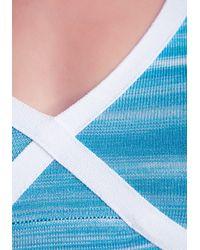Bebe - Multicolor Spacedye Cold Shoulder Top - Lyst