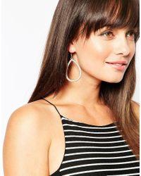 Lipsy | Metallic Oval Drop Earrings | Lyst