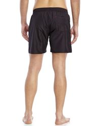 DIESEL | Black Mark Red Swim Trunks for Men | Lyst