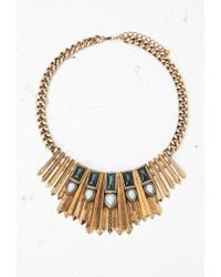 Forever 21 - Metallic Faux Stone Bib Necklace - Lyst