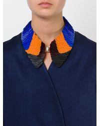 Marni | Black Colour Block Scale Bib Necklace | Lyst