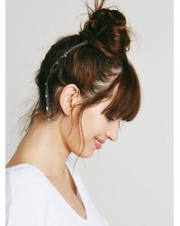 Free People | Blue Ear Cuff To Hair Chain | Lyst