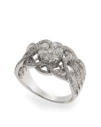 Effy | Metallic Bouquet 14kt White Gold And Diamond Ring | Lyst