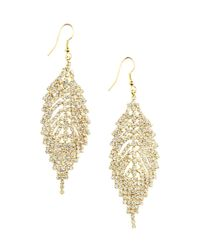 H&M Metallic Leaf-shaped Earrings