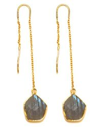 Argento Vivo | Metallic 'geo Stone' Threader Earrings | Lyst