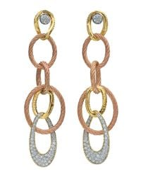Alor | Metallic Mixed-metal Linear Hoop Earrings | Lyst