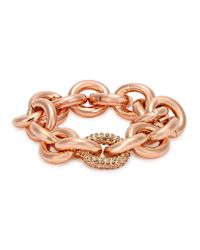 Eddie Borgo - Metallic Rose Gold-plated Link Bracelet - Lyst