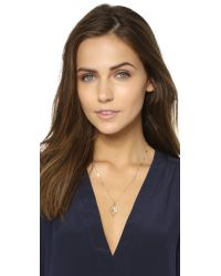 Sam Edelman | Metallic Multi Tear Pendant Necklace - Gold | Lyst