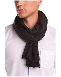 BOSS Orange | Black Cotton Scarf 'nuot-5' for Men | Lyst