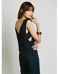 Free People | Blue Solid Shell Tank | Lyst