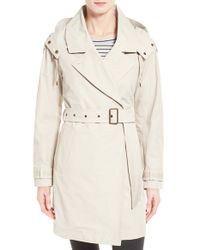 Marc New York | Natural 'brooke' Brushed Cotton Blend Trench Coat | Lyst
