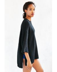 Silence + Noise Black Sweater Pocket Tee