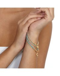 Astley Clarke | Metallic Wishbone Friendship Bracelet | Lyst