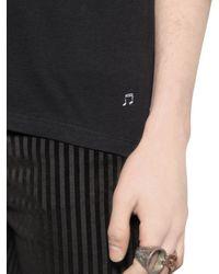 April77 Black Silence Cotton Jersey T-shirt for men