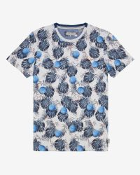 Ted Baker | Blue Printed T-shirt for Men | Lyst