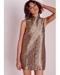 Missguided | Multicolor Brocade Shift Dress Multi | Lyst