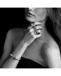 David Yurman | Metallic Noblesse Ring with Black Onyx and Gold | Lyst