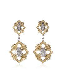 Buccellati - Metallic Opera Pendant Earrings With Diamonds In Yellow Gold - Lyst