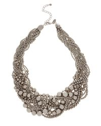 Coast | Natural Twist Cluster Necklace | Lyst