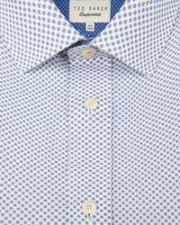 Ted Baker | Blue Circle Print Shirt for Men | Lyst