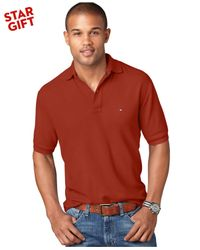 Tommy Hilfiger - Red Classic-fit Ivy Polo for Men - Lyst