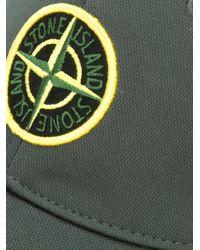 Stone Island Green Logo Embossed Cap for men