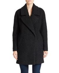 Betsey Johnson - Black Collared Boucle Jacket - Lyst